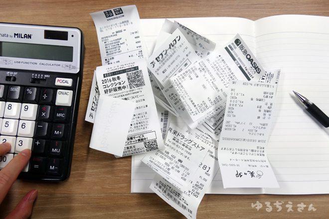辛い家計簿のイメージ