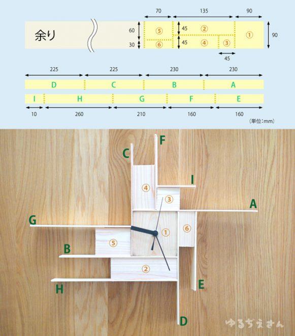 手作り時計設計図