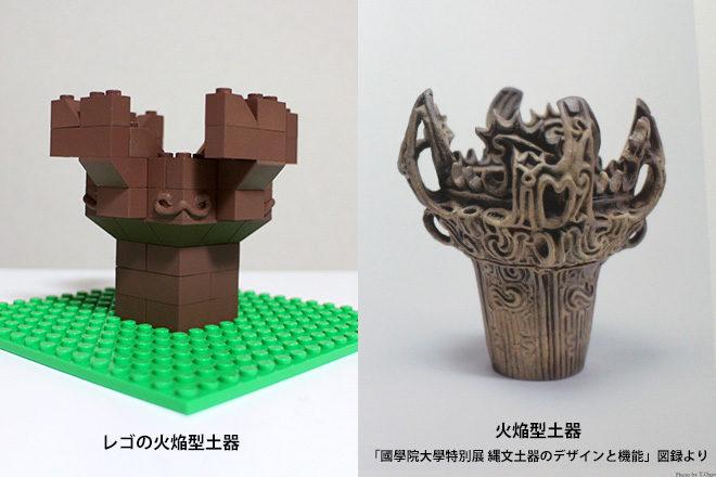 火焔型土器と実物比較